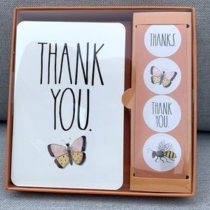 Rae Dunn Thank You Butterfly Note Card Set